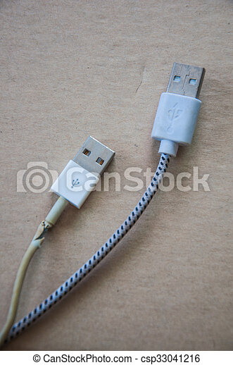 White usb mobile charging cable