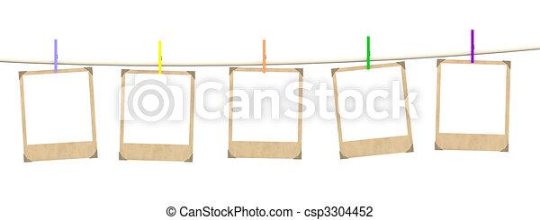 Five empty blanks of photo - csp3304452