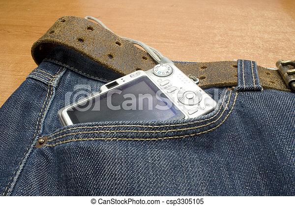 camera on pocket - csp3305105