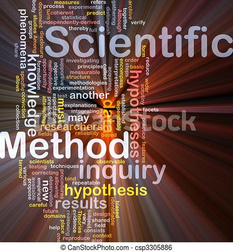 Scientific method background concept glowing - csp3305886