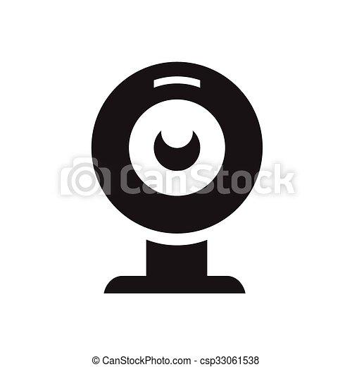 webcam icon - csp33061538