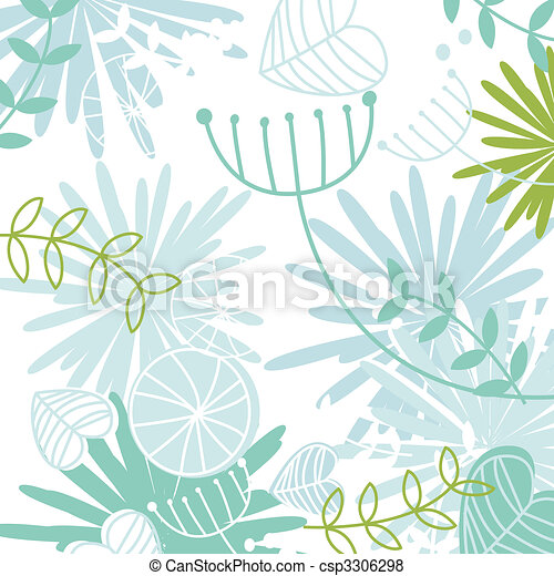 Retro floral pattern background - csp3306298