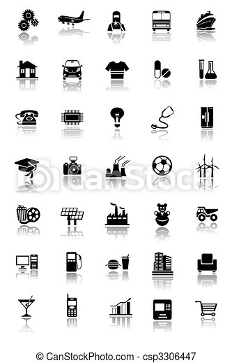 Industrial icons - csp3306447