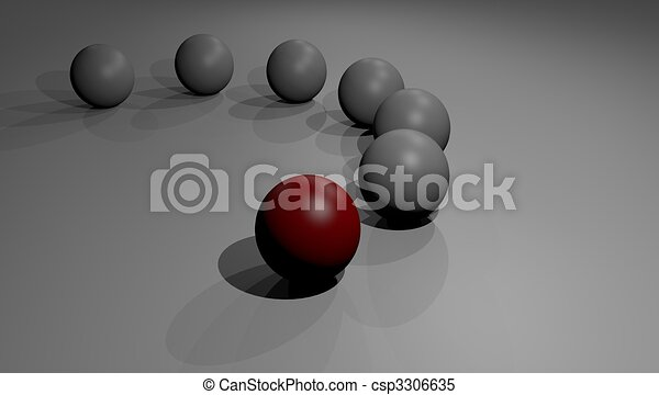 conceptual image of competitive advantage competition - csp3306635