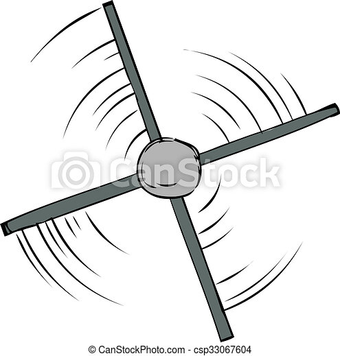 Stock Illustration of Top View of Propeller Spinning - Top down ...