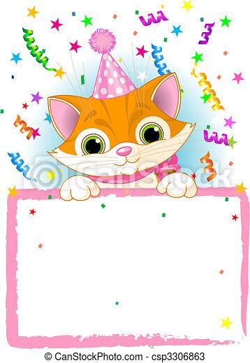 Kitten Birthday - csp3306863