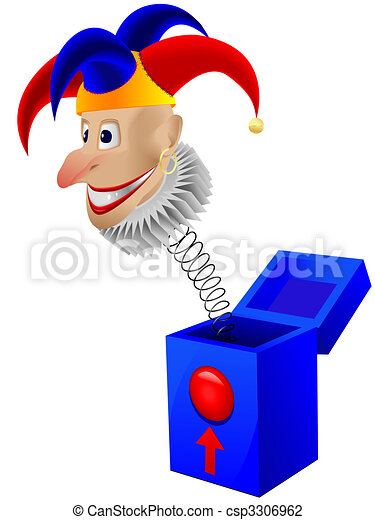 Vector Illustration of Children's toy the clown - a joker ...