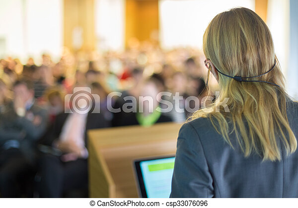 Speaker at Business Conference and Presentation. - csp33076096