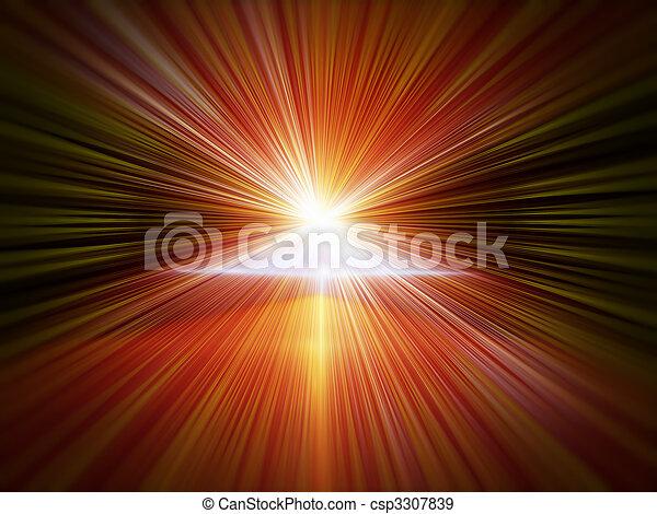 explosion of light, blast - csp3307839