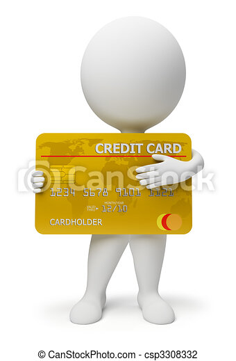 3d small people - credit card - csp3308332