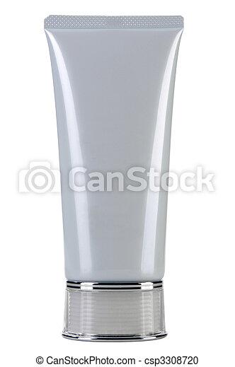 Blank white cosmetic tube - csp3308720