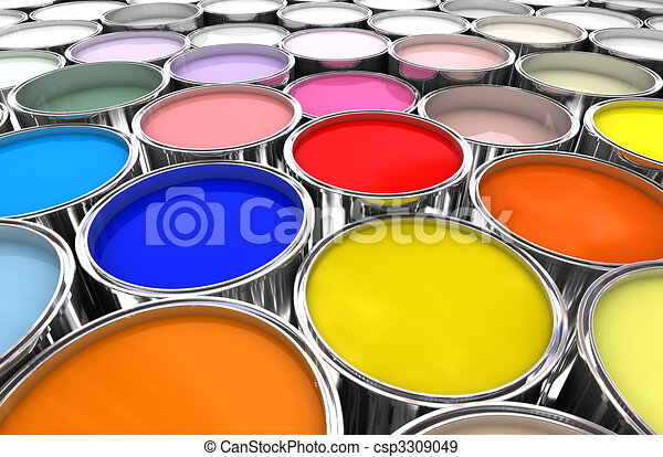 color paint ink can - csp3309049