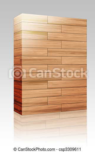 Wooden parquet texture box package - csp3309611