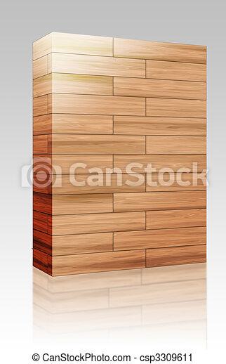 Wooden parquet texture box package - csp3309611