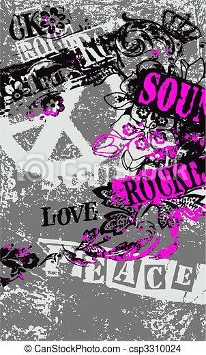 peace artistic poster - csp3310024