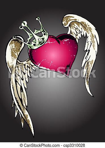 tribal heart illustration - csp3310028