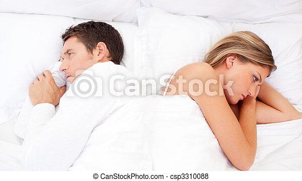 Sad couple having an argument - csp3310088