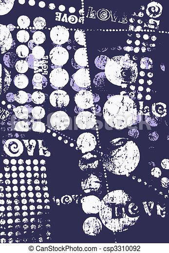 fancy geometric poster - csp3310092