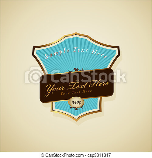Vector label with ribbon. - csp3311317