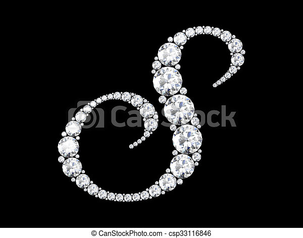 R Letter In Black Diamonds A Stunning Beautiful &...