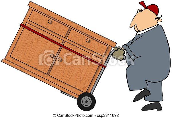 Moving Man - csp3311892