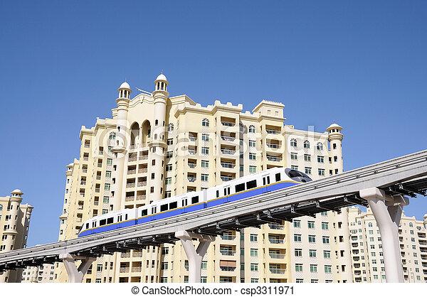 Palm Jumeirah Monorail in Dubai, United Arab Emirates - csp3311971