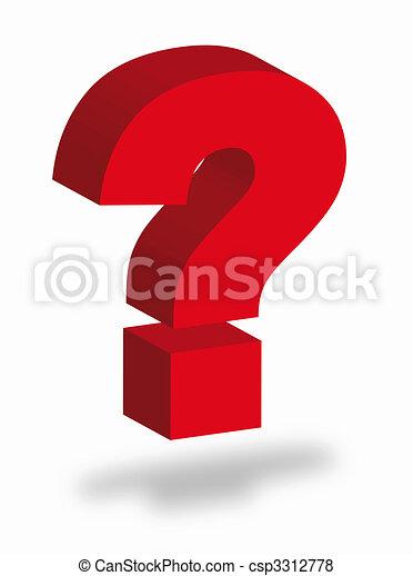 Question mark - csp3312778