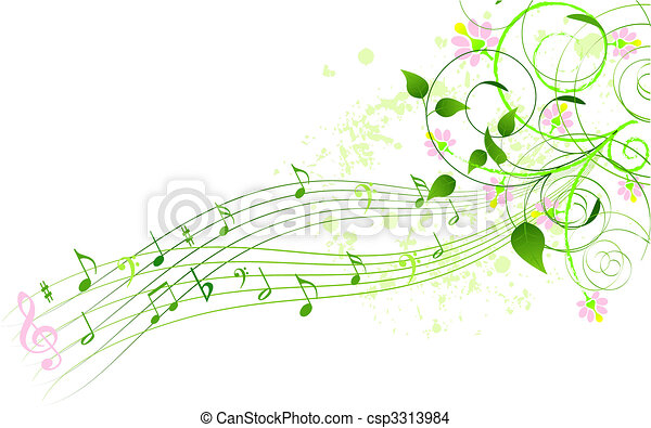 Spring song background - csp3313984