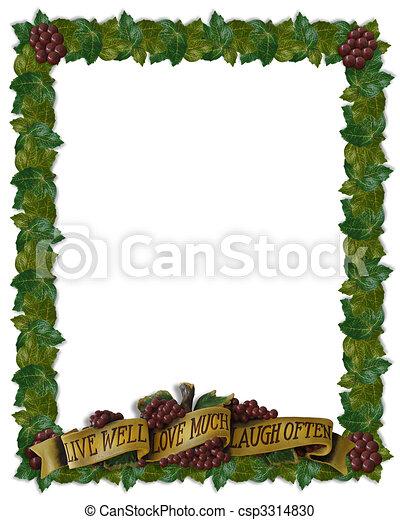 Live, love, laugh leaves border - csp3314830