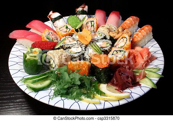 alimento, japoneses - csp3315870