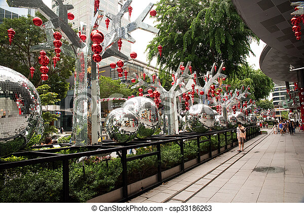 Stock Image of Singapore January 2016Christmas decoration on