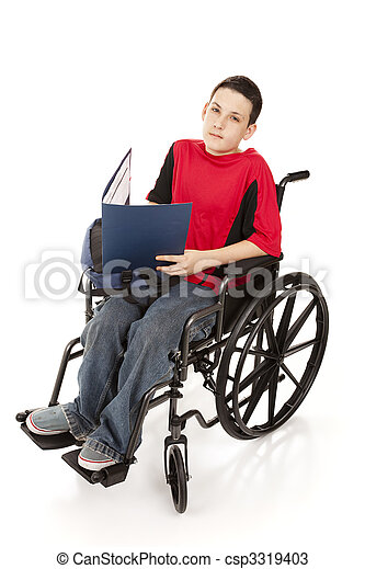 Teen Schoolboy in Wheelchair - csp3319403