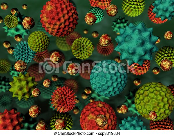 Pollen background - csp3319834