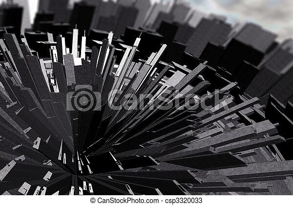 Futuristic City - csp3320033