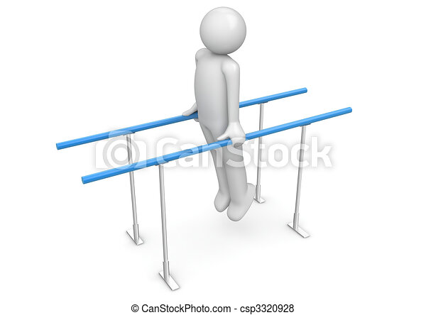 Athlete on the parallel bars - csp3320928