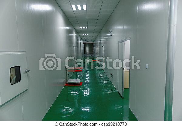Food factory clean corridor