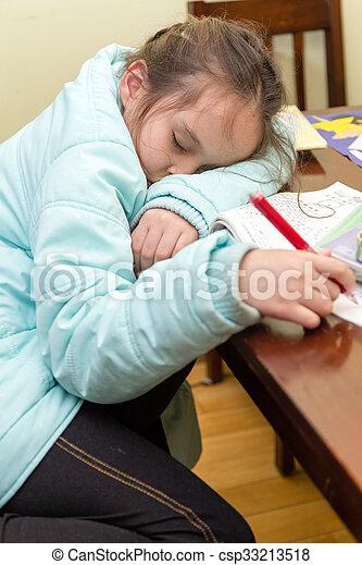 Sleeping While Doing Homework Clip - image 5