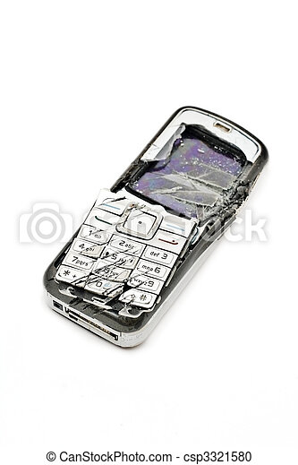 Smashed mobile phone - csp3321580