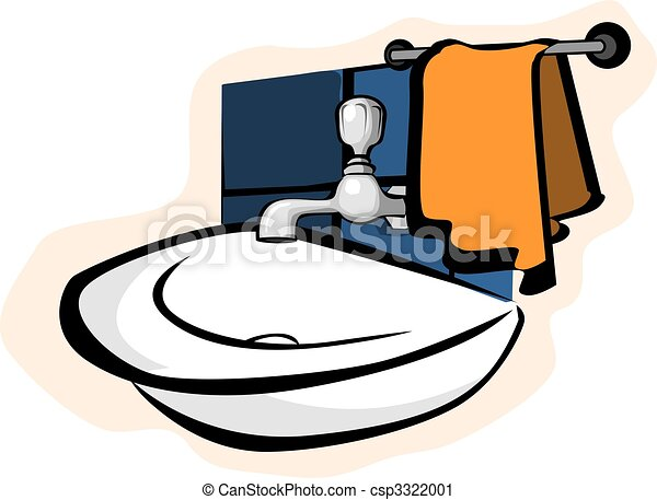 Stock Illustration   Badezimmer
