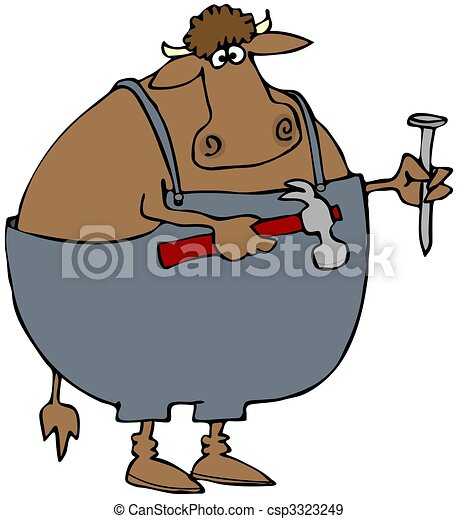 Carpenter Cow - csp3323249