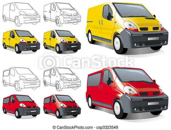 ?ini buss, van - csp3323549