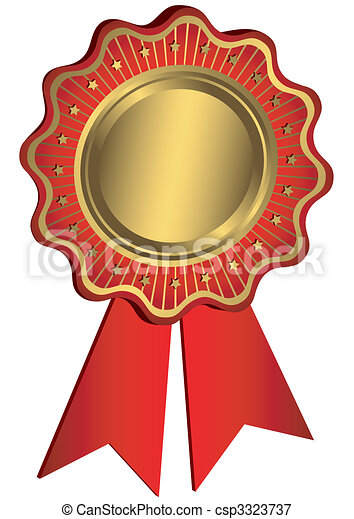Golden And Red Award - csp3323737