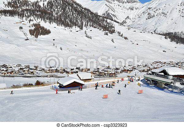 Ski village scenario - csp3323923