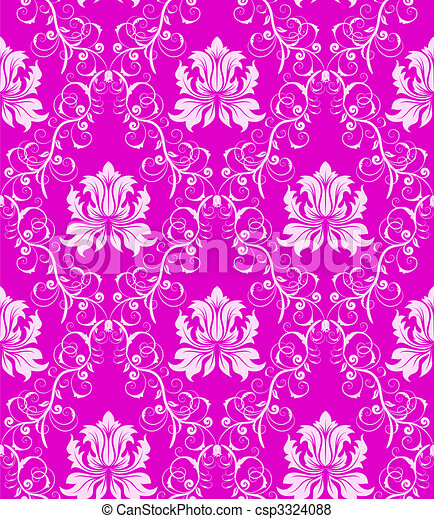 seamless damask pattern - csp3324088