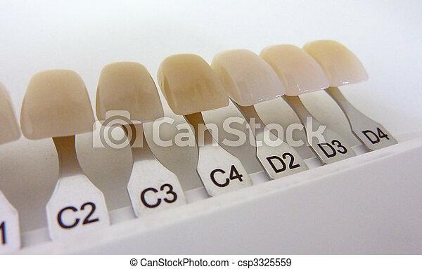 Dental shade guide - csp3325559