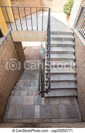 Im genes de escalera ladrillo italiano pasamano - Escaleras de ladrillo ...