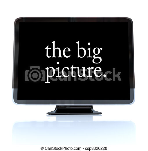 The Big Picture - High Definition Television HDTV - csp3326228