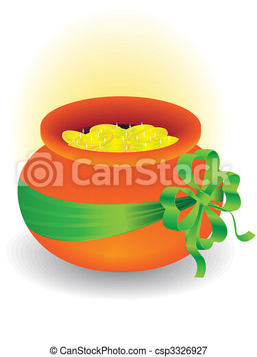 pot with gold - csp3326927