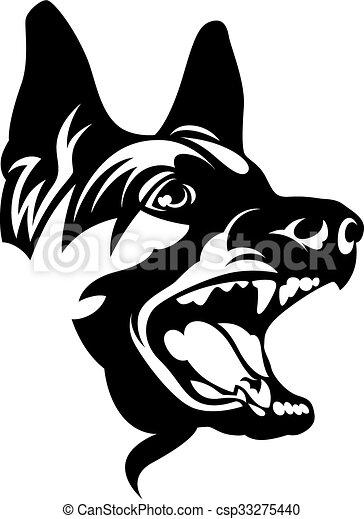EPS Vector of Black dog - Barking dog csp33275440 - Search Clip ...