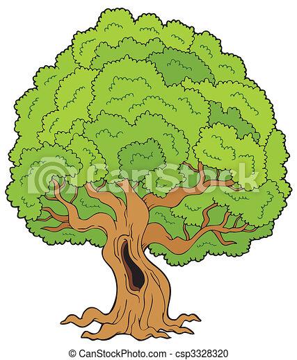 Big leafy tree - csp3328320